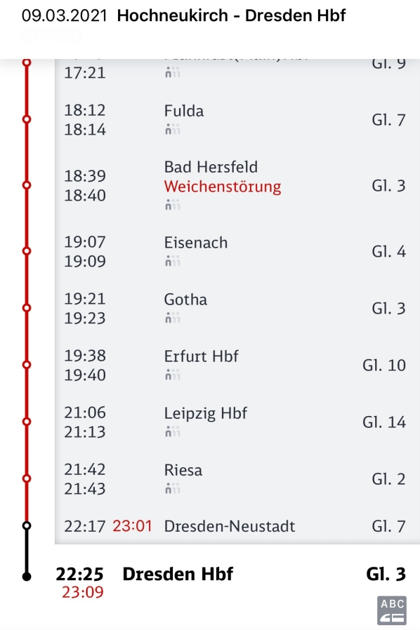 Problemen mit der Deutschen Bahn #DBakel